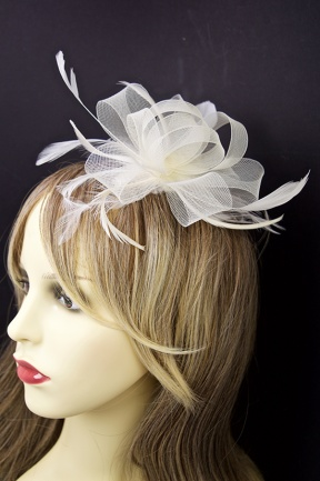 Cream Fascinator Ivory Cream Bow Fascinator